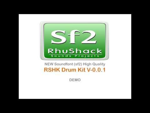 RSHK-Drum Kit V 0 0 1, BEST SOUNDFONTS(sf2) - YouTube