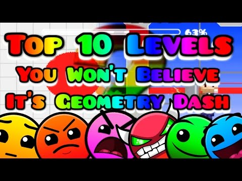 Top 10 Levels You Won't Believe It's Actually Geometry Dash