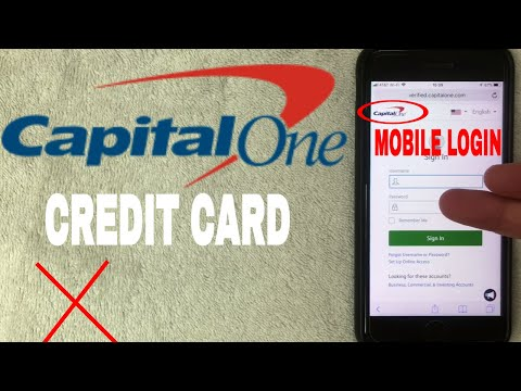 ✅  How To Register Log In Find Password Account Capital One Credit Card Mobile Website 🔴