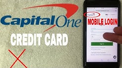 ✅  How To Register Log In Find Password Account Capital One Credit Card Mobile Website ?