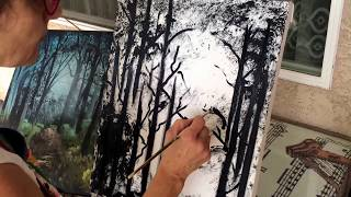 How to Paint a Fantasy Landscape (Part 1/3)