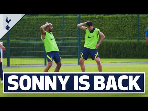 Heung-Min Son returns to training | Spurs prepare for second friendly