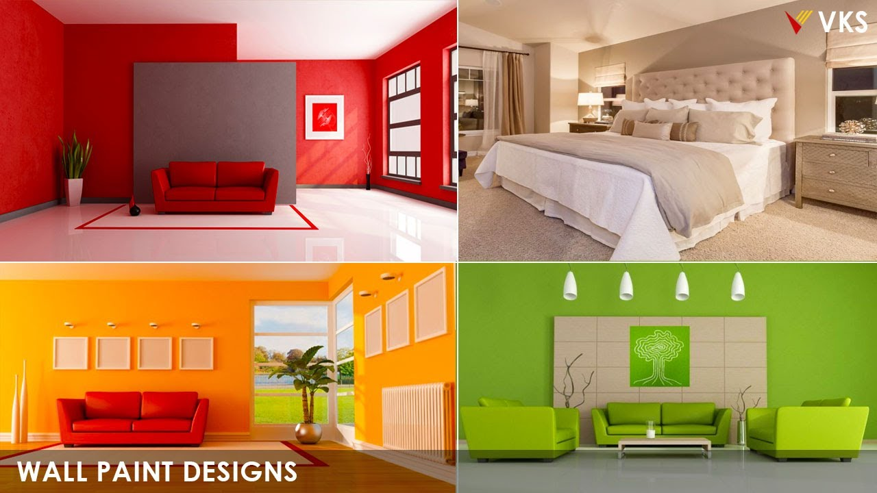 Room Wall Paint Color Design Ideas Wall Paint Interior Design Home Asian Paint Color Combination Youtube