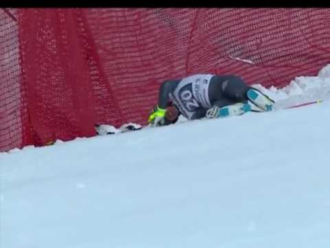 Valentin Giraud Moine - HORROR CRASH - Garmisch Partenkirchen Downhill 2017