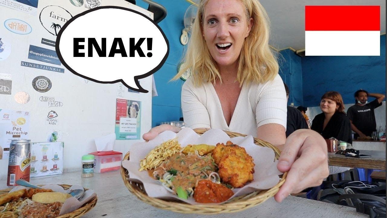Eating JAVANESE WARUNG FOOD [Makan Pecel]