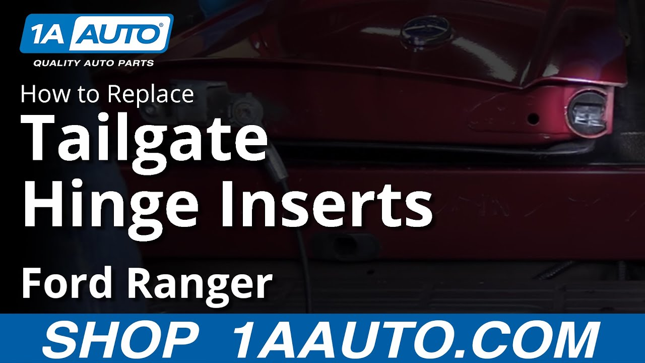 2016 Ford Super Duty >> How to Replace Tailgate Hinge Inserts 98-12 Ford Ranger ...