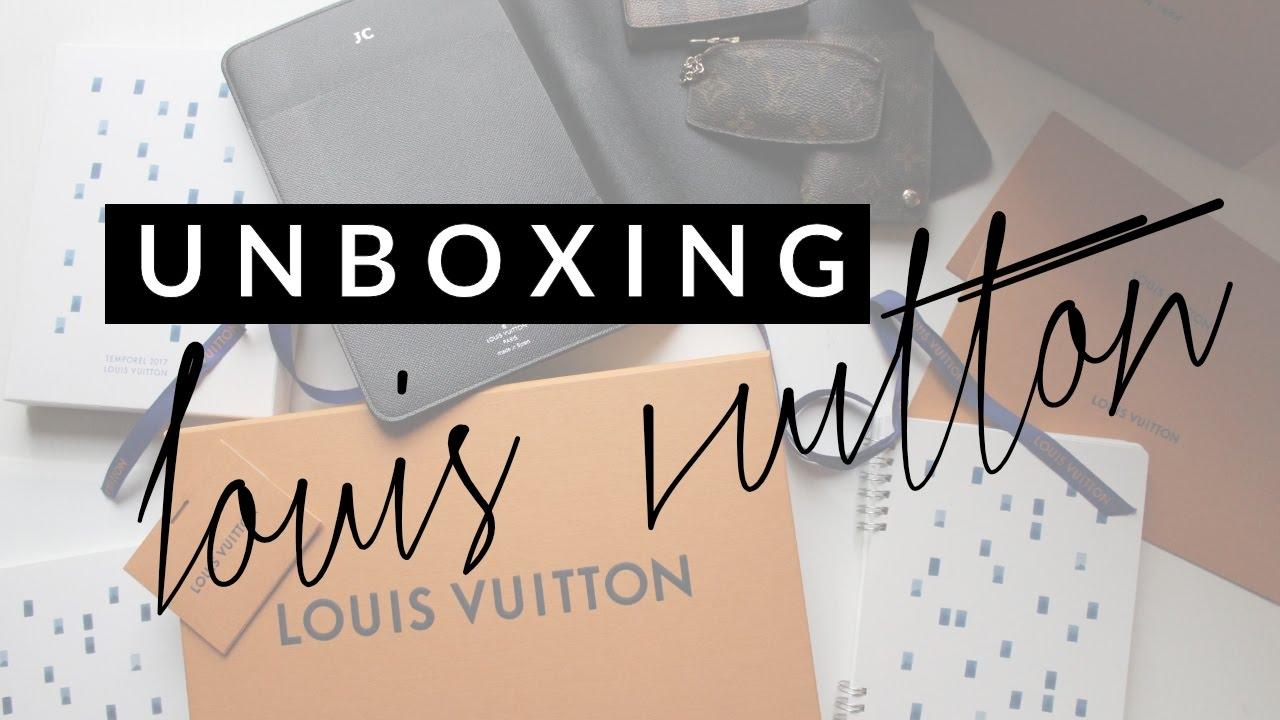 Unboxing Louis Vuitton Agenda Refill 2017