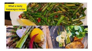 How to cook Aspaŗagus easy two way/Asparagus stir fry recipe/Green Asparagus with Hollandaise sauce