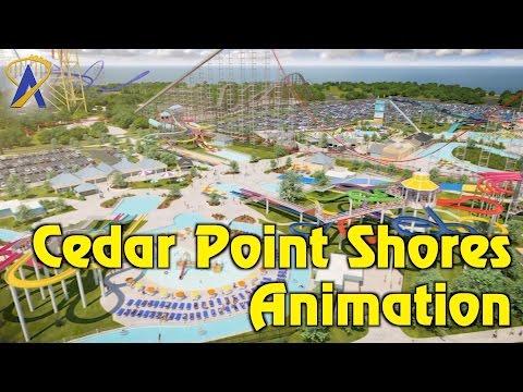 Cedar Point Shores Waterpark animated fly-through at Cedar Point in Ohio