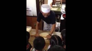 静岡県藤枝市細島屋 手打ち蕎麦教室の様子①