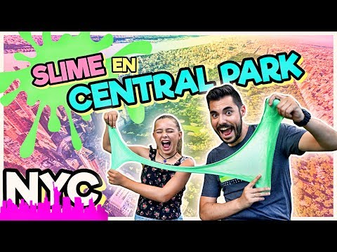 👨🏻‍🔬Haciendo SLIME en CENTRAL PARK 🌲NEW YORK (Haciendo SLIME a ESCONDIDAS) | DADn