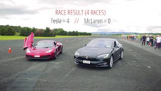 Tesla S P100D vs. McLaren MP4-12C