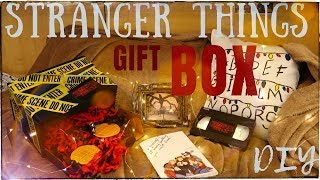 DIY \ STRANGER THINGS GIFT BOX * Очень Странные Дела - КОРОБКА ПО СЕРИАЛУ