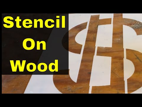 How To Stencil On Wood-Easy Tutorial