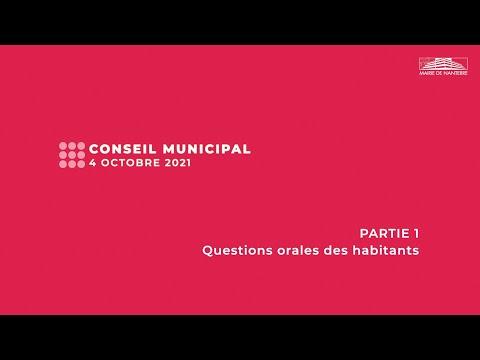 Conseil municipal du 4 octobre 2021 - PARTIE 1