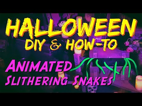 DIY Animated Snakes HALLOWEEN Prop & How-To Video Tutorial