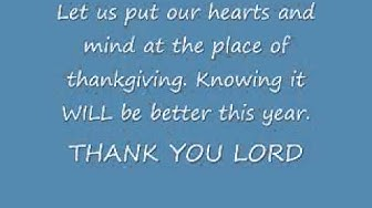 Thank you Lord For one more year - Grace Thrillers