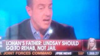 Repeat youtube video Lindsay Lohan's Dad drops the F Bomb on Fox News with Shepard Smith