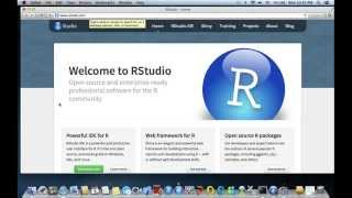 Programming in R - Getting Started - Installing R and RStudio on a Mac