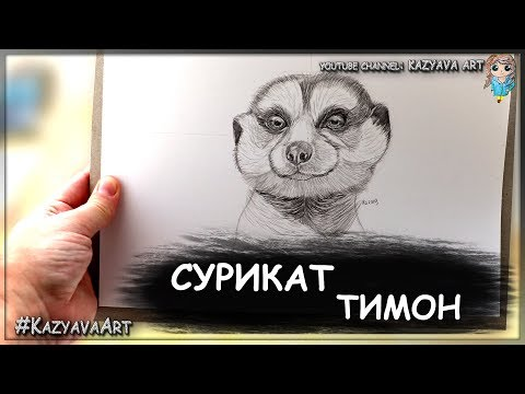 Как нарисовать суриката Тимона. Фильм Король лев