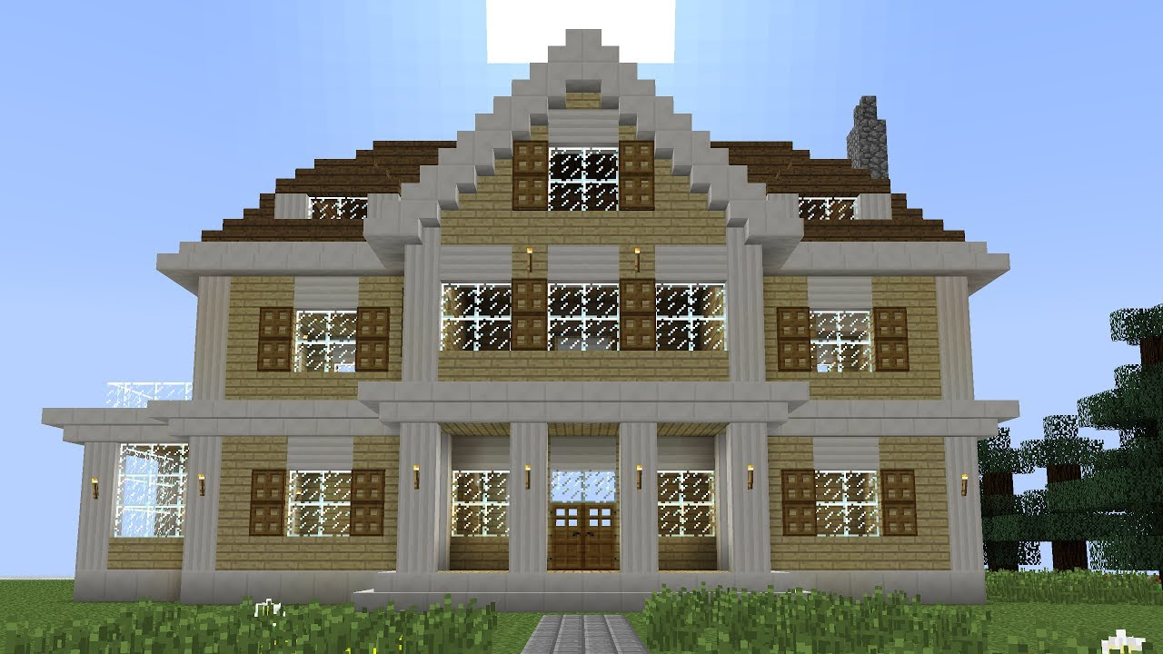 Minecraft   How To Build A Huge Mansion Amazing Ideas