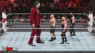WWE 2K20 Giant Joker vs Mini Brock Lesnar, Mini Braun Strowman & Mini Big Show Match!