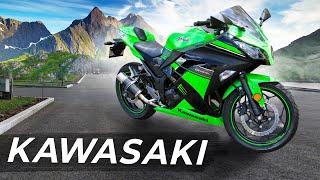 """Модельный ряд мотоциклов Kawasaki на выставке """"Мото Весна"""" 2021 от компании """"Super Marine""""."""
