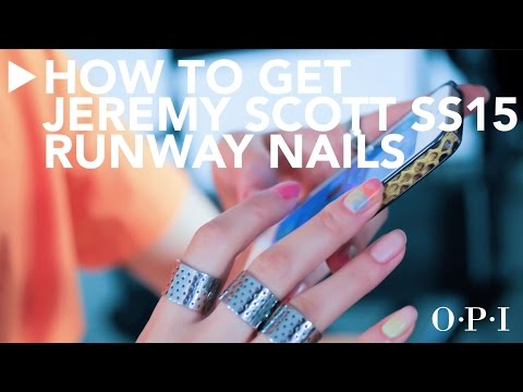 Runway the Real Way  Jeremy Scott SS15 Nails