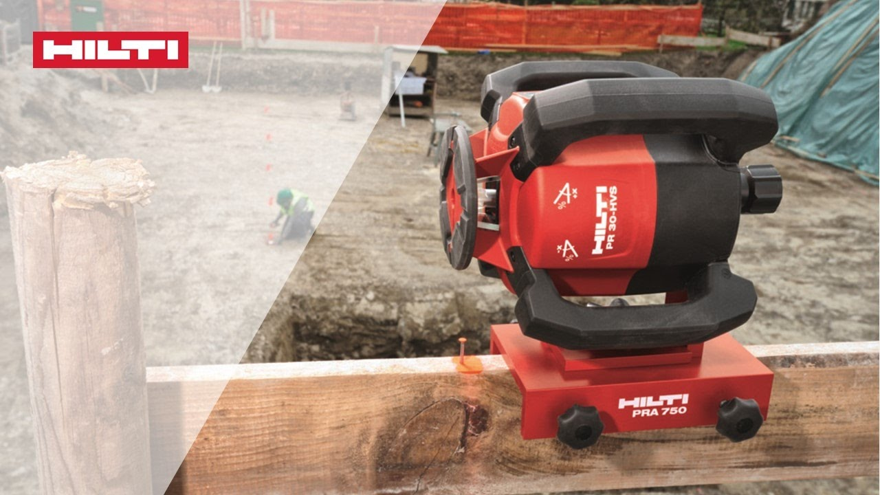 How To Vertical Manual Alignment With The Hilti Pr 300