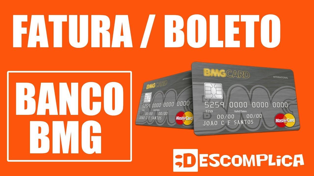 Fatura Boleto Cartao Banco Bmg 2020 Youtube