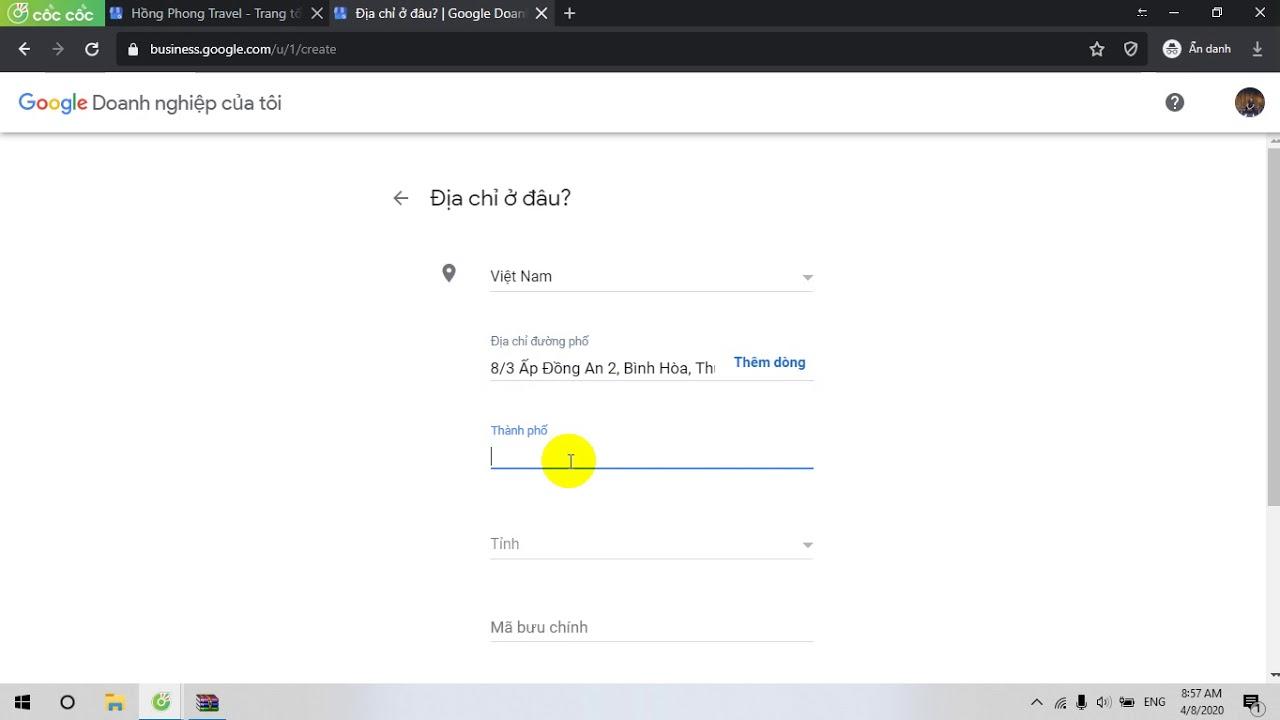 Cách tạo Tài khoản Doanh nghiệp trên Google Business