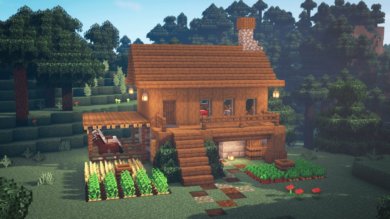 Minecraft How To Build A Simple Survival House Starter House Youtube
