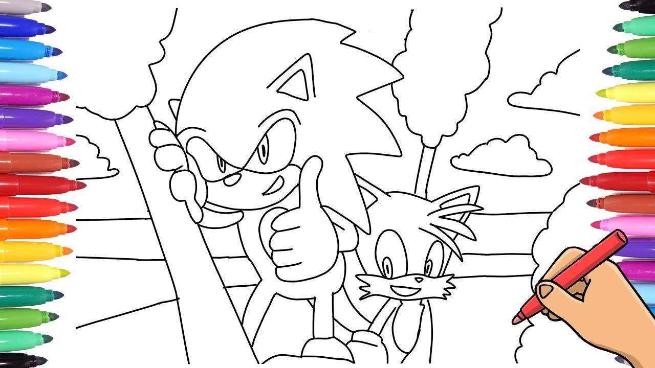 Sonic The Hedgehog And Miles Tails Prower Coloring Pages How To