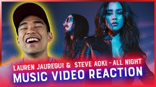 STEVE AOKI & LAUREN JAUREGUI - ALL NIGHT Music Video REACTION // RWRG