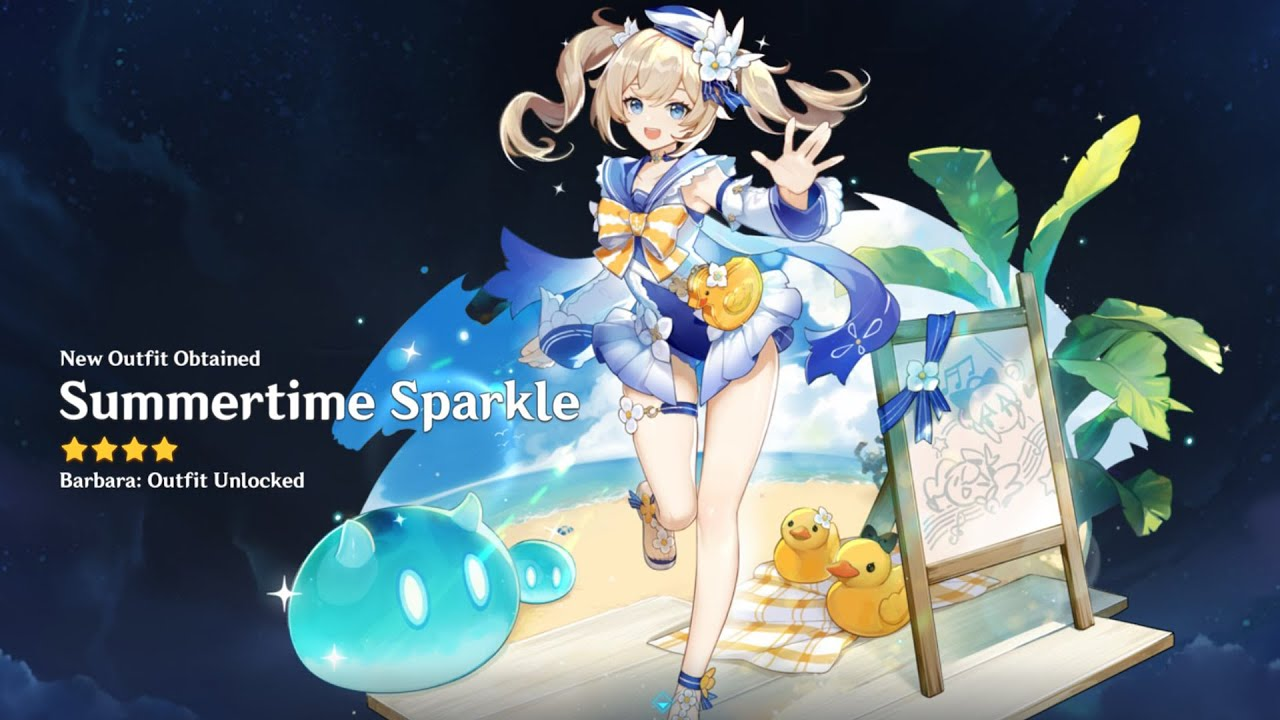 Barbara's New Summer Skin (Summertime Sparkle) | Genshin Impact