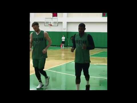 Kyrie Irving & Gordon Hayward practicing their jump shots