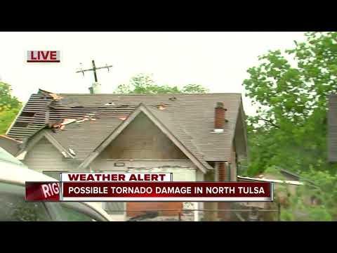 Possible tornado damage in north Tulsa   SuperNewsWorld com