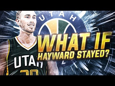 WHAT IF GORDON HAYWARD RESIGNED WITH THE JAZZ REBUILD! NBA 2K18