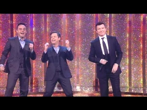 """""""Rick Astley"""" Singing Never Gonna Give You Up With The Audience Saturday Night Takeaway 2014"""