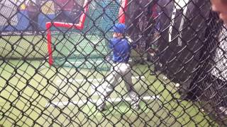 Tristan L Batting practice BP with Mets hitting coach Kevin long