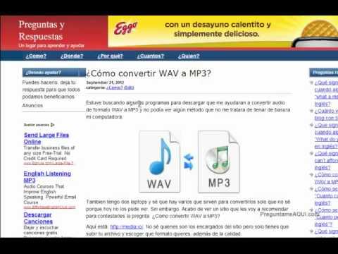 Como convertir WAV a MP3 (Gratis)