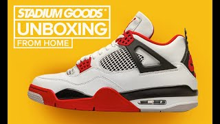 "Air Jordan 4 Retro ""Fire Red 2020"" UNBOXING"