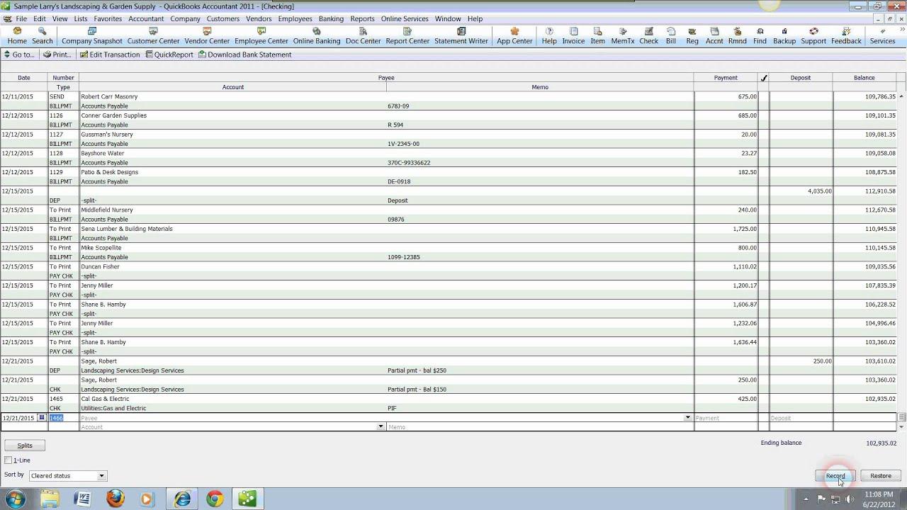 QuickBooks Tutorials Recording Debits and Credits. Visit www.etbsfl.com