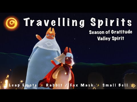 "Sky: CotL Travelling Spirits - Leap Emote / Fox ""Rabbit"" Mask / Small Bell (SoG)"