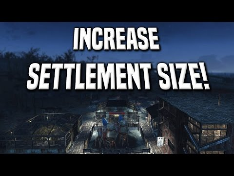For all us PS4 players, how to increase settlement size without ...