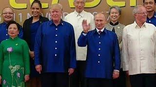 Geestig: Trump en Poetin op verkleedpartijtje