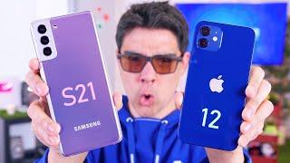 ESTO ES UNA PALIZA!!!!!!! Samsung S21 o iPhone 12
