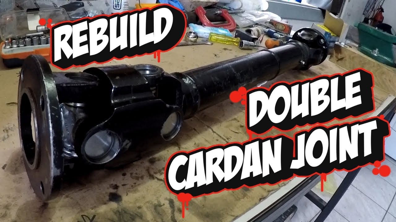 How To Rebuild Double Cardan Joint Youtube