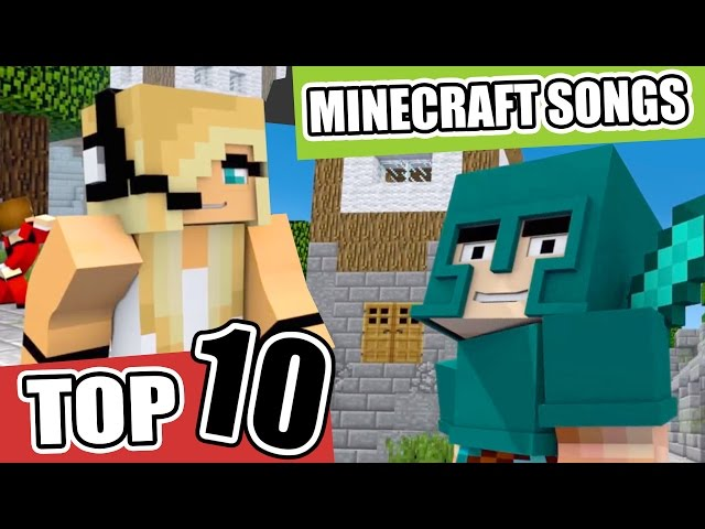 Top 10 Minecraft Songs/Animations of March 2017 ? NEW Minecraft Song and Music Videos