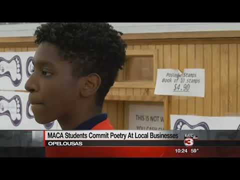 "Students provide ""drive by poetry"""